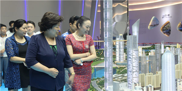 赵津芳率社区志愿服务调研组参观考察武汉市民之家