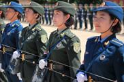 9·3阅兵唯一女兵方队