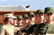 17个来华参阅的外国方队、代表队进行阅前训练