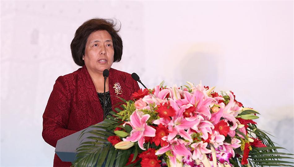 中国志愿服务联合会副会长兼秘书长赵津芳在开幕式上致辞