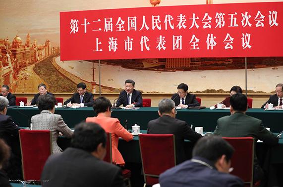 习近平参加上海代表团审议